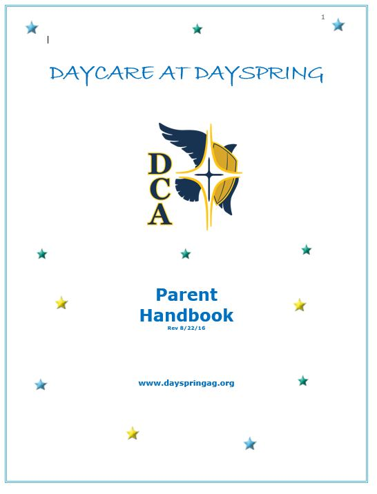 example of staff handbook for daycare